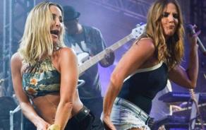 27 de Maio - Claudia Leitte e Ivete Sangalo cantam juntas em show na Bahia