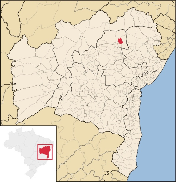 28 de Maio - Localização de Senhor do Bonfim (BA) - 132 Anos.