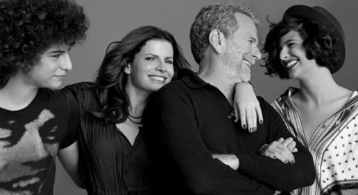 29 de Maio - Debora Bloch com o pai Jonas Bloch e os filhos Júlia e Hugo.