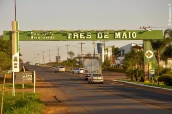 3 de Maio - Entrada da cidade de Três de Maio - RS.