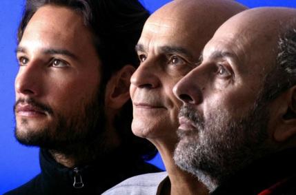 3 de Maio - Retrato do ator Rodrigo Santoro, do médico Drauzio Varella e de Hector Babenco, produtor do filme 'Carandiru', posam para foto no Sundance Film Festival 2004, em Utah (Estad