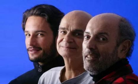 3 de Maio - Retrato do ator Rodrigo Santoro, do médico Drauzio Varella e de Hector Babenco, produtor do filme 'Carandiru' posam para foto no Sundance Film Festival 2004, em Utah (Estado