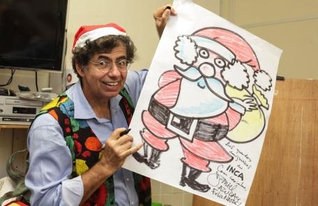 30 de Maio - 1947 – Daniel Azulay, artista plástico, educador, desenhista, compositor e autor de livros - desenho do Papai oel no Natal.