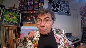 30 de Maio - 1947 – Daniel Azulay, artista plástico, educador, desenhista, compositor e autor de livros - em seu Ateliér.