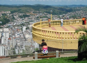 31 de Maio - Vista do Mirante do Morro do Cristo - Juiz de Fora (MG) - 167 Anos.