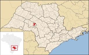 5 de Maio - Garça (SP) - Localização no estado de São Paulo.