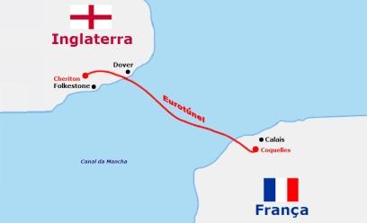 6 de maio - 1994 - Inauguração do Eurotúnel no Canal da Mancha.