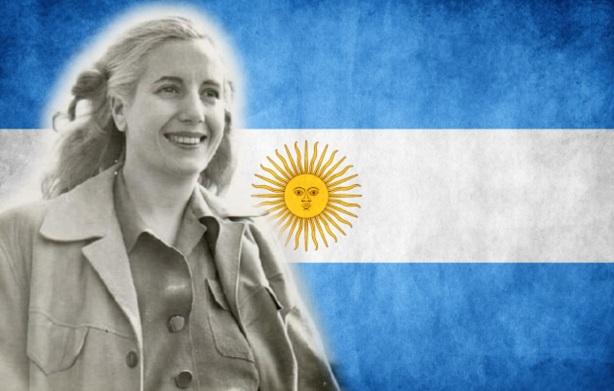 7 de Maio - 1919 – Eva Perón,bandeira argentina.