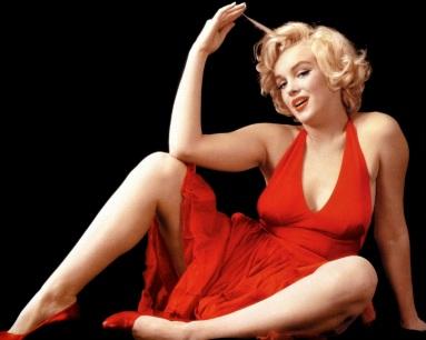 1 de Junho - 1926 - Marilyn Monroe, atriz estadunidense, pose, red dress, vestido vermelho.