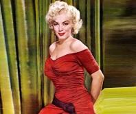 1 de Junho - 1926 - Marilyn Monroe, atriz, pose, red dress, vestido vermelho.