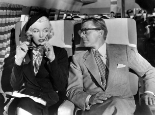 1 de Junho - Marilyn Monroe em 'How to Marry a Millionaire', plane, avião.