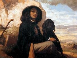 10 de Junho - Auto-retrato com cão - Museu do Petit Palais - Paris — Gustave Courbet, pintor francês.