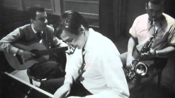 10 de Junho - João Gilberto no violão, Antonio Carlos Jobim no piano e Stan Getz no Sax.