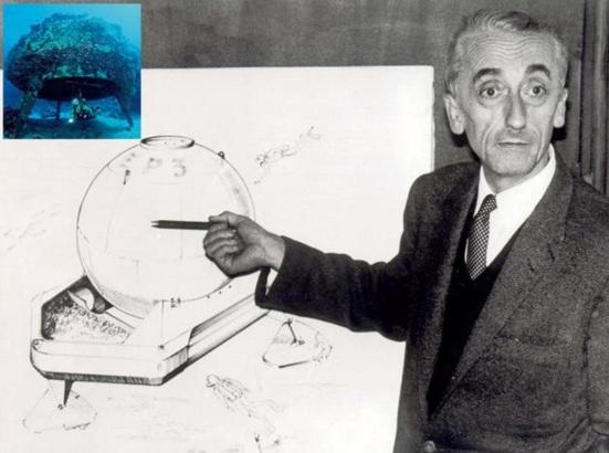 11 de Junho - Em 1962, Jacques Cousteau construiu colônias no fundo do mar na tentativa de determinar se os humanos poderiam viver sob a superfície do oceano.