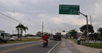 12 de Junho - Avenida e placas de sinalização de Matinhos - A (Cidade) Namorada do Paraná - Matinhos (PR) - 50 Anos.