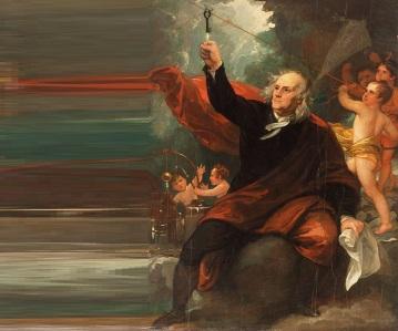 15 de Junho - 1752 – Benjamin Franklin prova que um relâmpago é electricidade na famosa experiência com a chave.