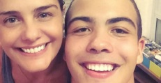 18 de Junho - Milene Domingues com seu filho, Ronald.