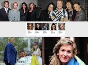 18 de Junho - Paul McCartney - cantor e compositor inglês - com seu filho e filhas, já adultos.