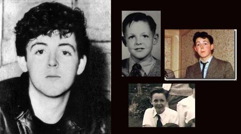 18 de Junho - Paul McCartney - cantor e compositor inglês - criança, adolescente, jovem.