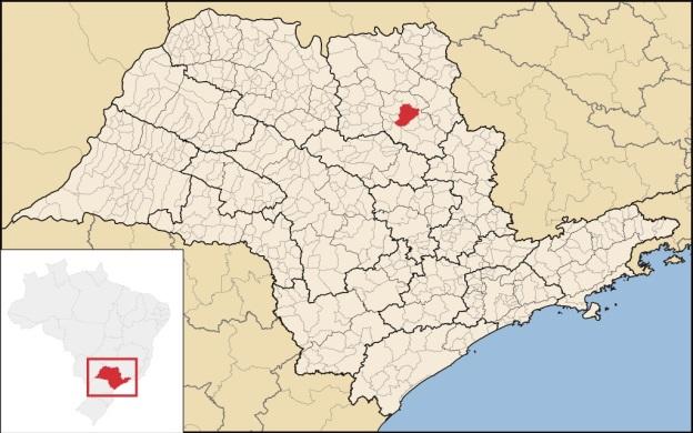 19 de Junho - Localização da cidade, mapa do Estado de São Paulo — Ribeirão Preto (SP) — 161 Anos.