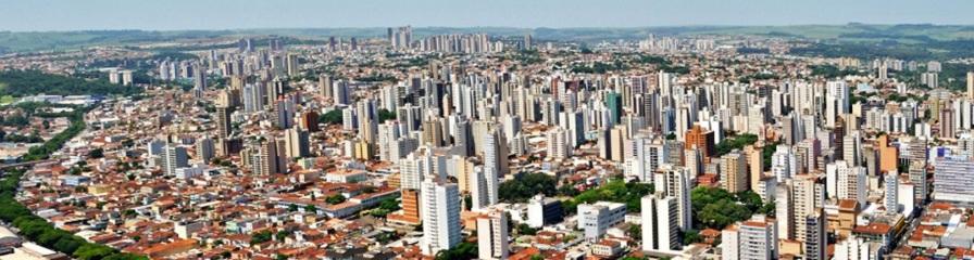 19 de Junho - Vista panorâmica da cidade, tomada aérea dos prédios — Ribeirão Preto (SP) — 161 Anos.