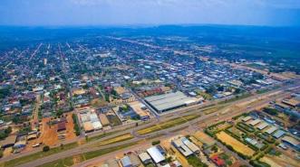 2 de Junho - Foto aérea de Guarantã do Norte, no Mato Grosso.