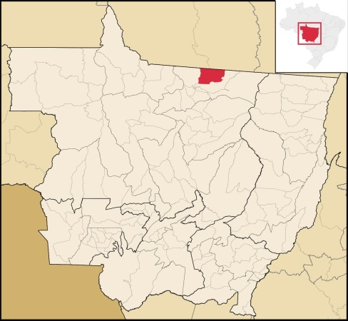 2 de Junho - Localização de Guarantã no Mato Grosso.