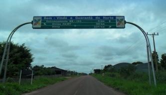 2 de Junho - Placa de boas vindas em Guarantã do Norte - MT.