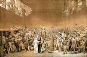 20 de Junho - 1789 - Deputados do Terceiro Estado francês realizam o Juramento do Jogo da Péla.