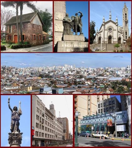 20 de Junho - Fotomontagem de pontos turísticos da cidade — Caxias do Sul (RS) — 127 Anos.