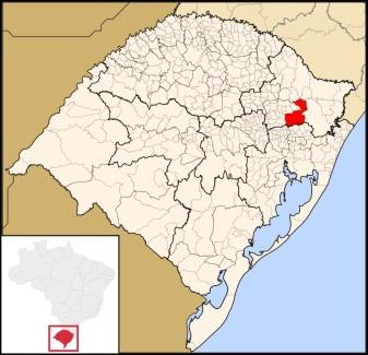 20 de Junho - Localização de Caxias do Sul (RS) — 127 Anos.
