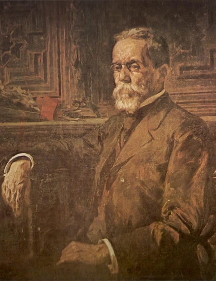 21 de Junho - Machado de Assis c. 1905, pintado por Henrique Bernardelli.