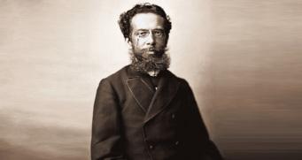21 de Junho - Machado de Assis fotografado por Marc Ferrez, 1890.