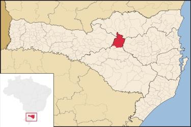 21 de Junho - Mapa de localização — Santa Cecília (SC) — 59 Anos.