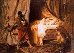 21 de Junho - Otelo e Desdêmona por Muñoz Degrain, 1881, é um retrato do drama Otelo de William Shakespeare. Correlação arquétipa com o ciúme do Bentinho de Dom Casmurro.