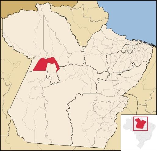 22 de Junho - Mapa de localização — Santarém (PA) — 356 Anos.