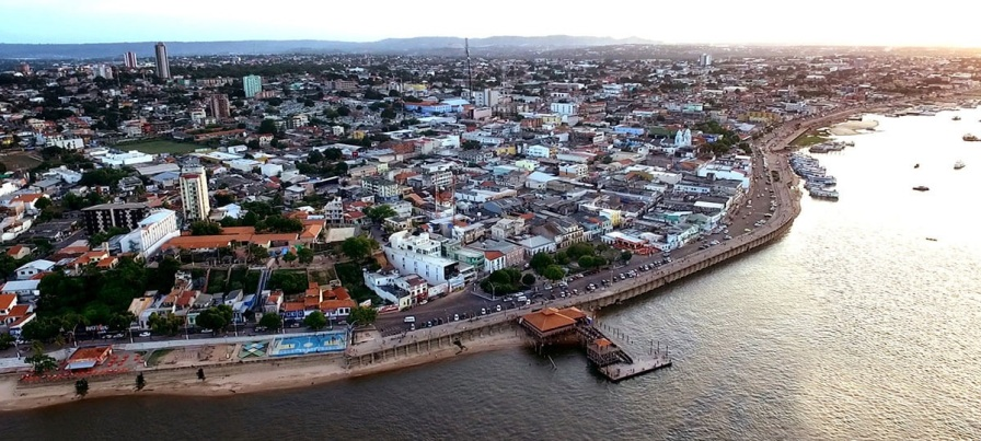 22 de Junho - Tomada aérea da cidade — Santarém (PA) — 356 Anos.