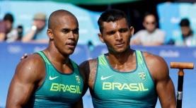 23 de Junho - Erlon Silva com Isaquias nas Olimpíadas do Rio 2016.