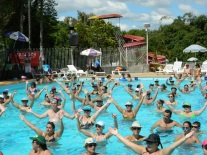 24 de Junho - Hidroginástica nas piscinas da Sociedade Esportiva Sanjoanense — São João da Boa Vista (SP) — 196 Anos.