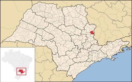 24 de Junho - Mapa de localização — São João da Boa Vista (SP) — 196 Anos.