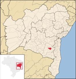 26 de Junho - Mapa de localização — Poções (BA) — 137 Anos.