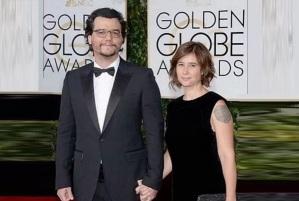 27 de Junho – Wagner Moura e a mulher, Sandra Delgado, no Globo de Ouro 2016