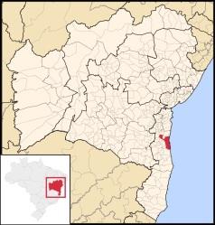 28 de Junho – Mapa de localização — Ilhéus (BA) — 483 Anos.