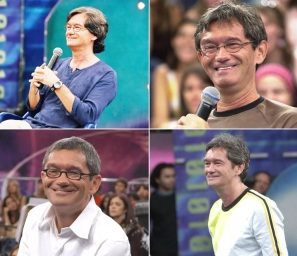 29 de Junho — Serginho Groisman, jornalista e apresentador de televisão brasileiro, no 'Altas Horas' - fotomontagem.