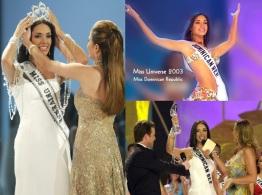 3 de Junho - 2003 - No Panamá, a dominicana Amelia Vega foi coroada Miss Universo, sendo a 1ª mulher de seu país a conquistar o título. A brasileira Gislaine Ferreira ficou em 6º lu