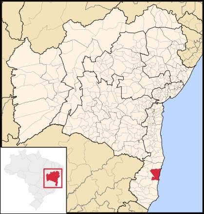 30 de Junho — Mapa de localização — Porto Seguro (BA) — 126 Anos.