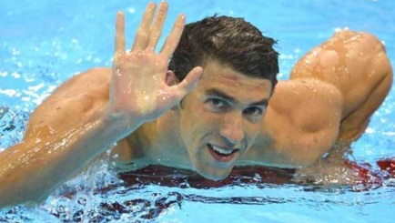 30 de Junho — Michael Phelps, nadador campeão olímpico.