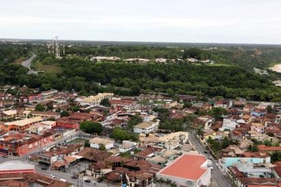 30 de Junho — Vista aérea do centro da cidade — Porto Seguro (BA) — 126 Anos.