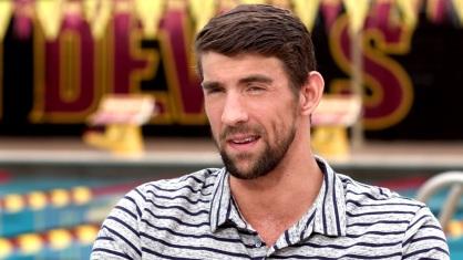 30 de Junho - Michael Phelps, nadador estadunidense, campeão olímpico, durante entrevista.