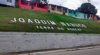 4 de Junho - Letreira com o nome da cidade - Joaquim Nabuco (PE) - a Terra do Açucar.